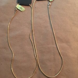 Jewelry - Two plated gold necklace chains
